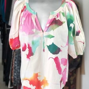 DVF Abstract Painted Top
